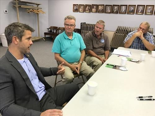 Kinzinger discusses trade issues in Livingston County