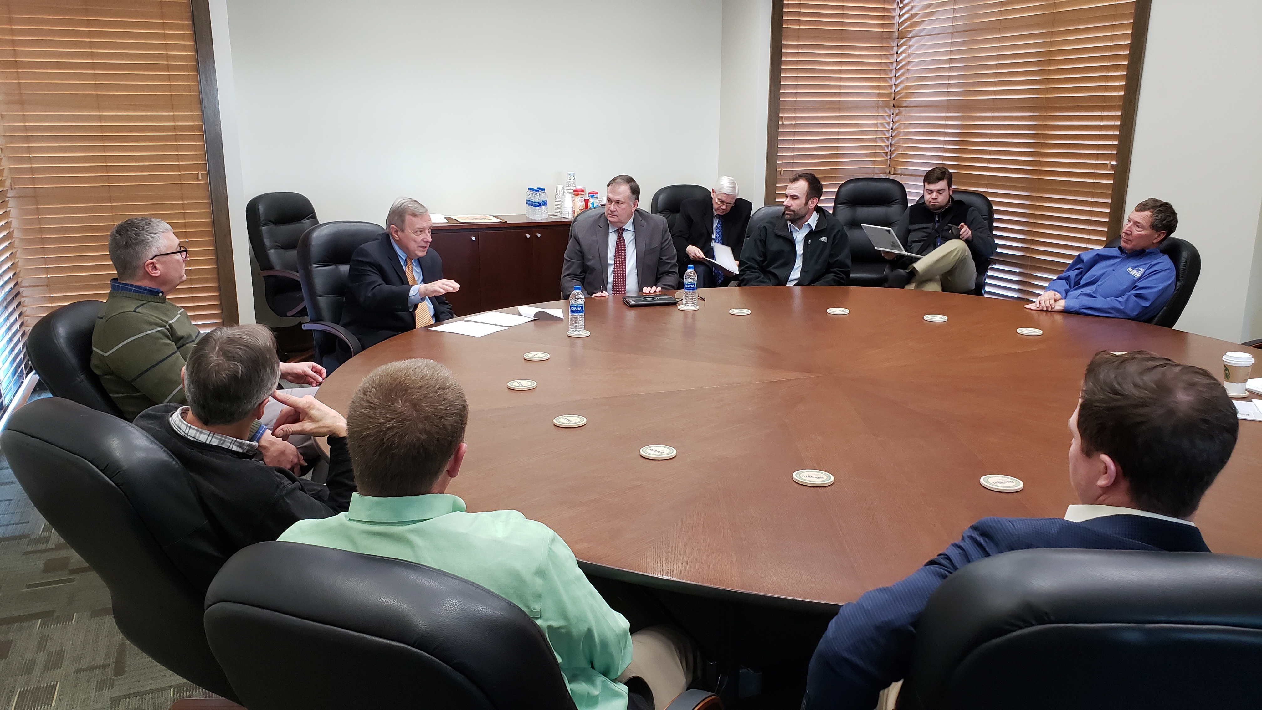 McLean County Farm Bureau hosts U.S. senator visit with Illinois farmers