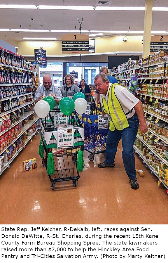 County Farm Bureau shopping spree benefits food pantries